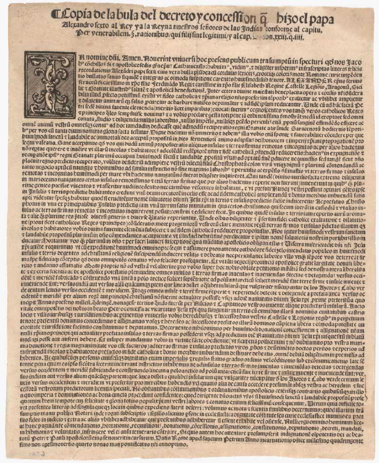 Example of a Papal Bull (Indigenous Values Initiative, 2020). Copyright CC-BY-4.0